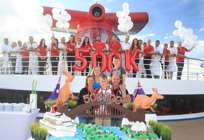 Carnival Cruise Line Celebrates Half a Million Guests