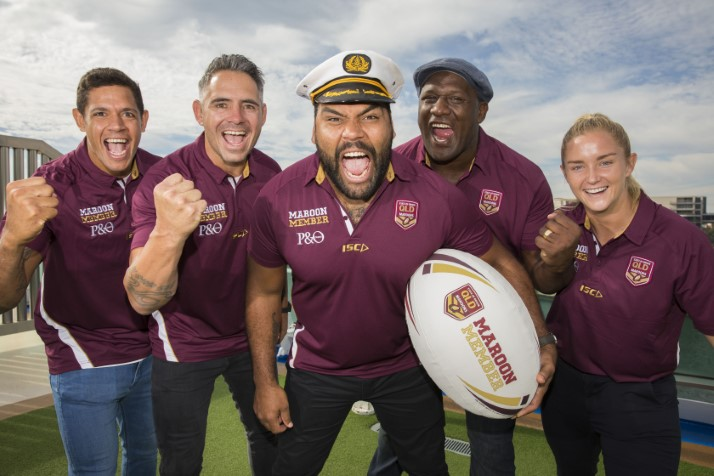 "P&O Cruises hosts 100 QLD rugby league ""super fans"" in Sydney"