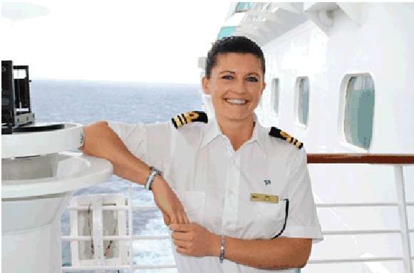Pacific Explorer Second Officer Amy Templeton is P&O Cruises' Smiling Face of World Maritime Day