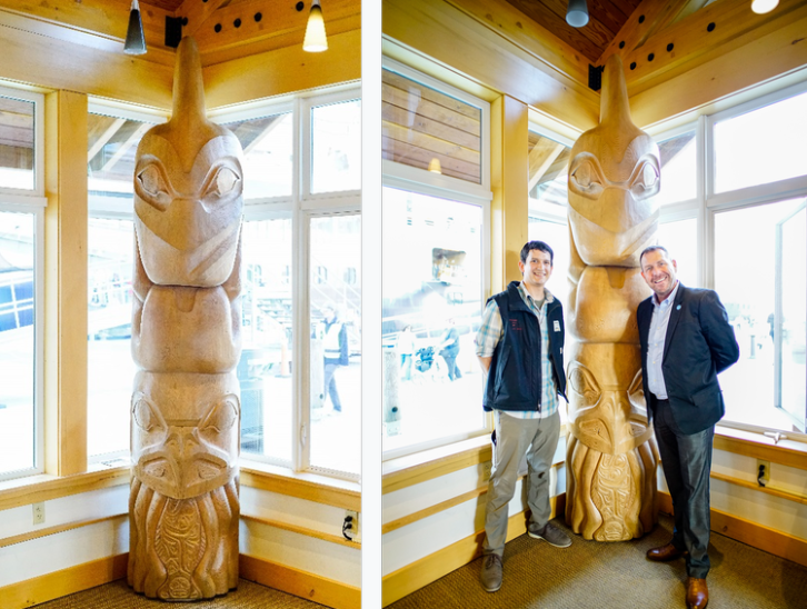 Princess Cruises dedicates special totem pole to Ketchikan to commemorate 50th year sailing to Alaska