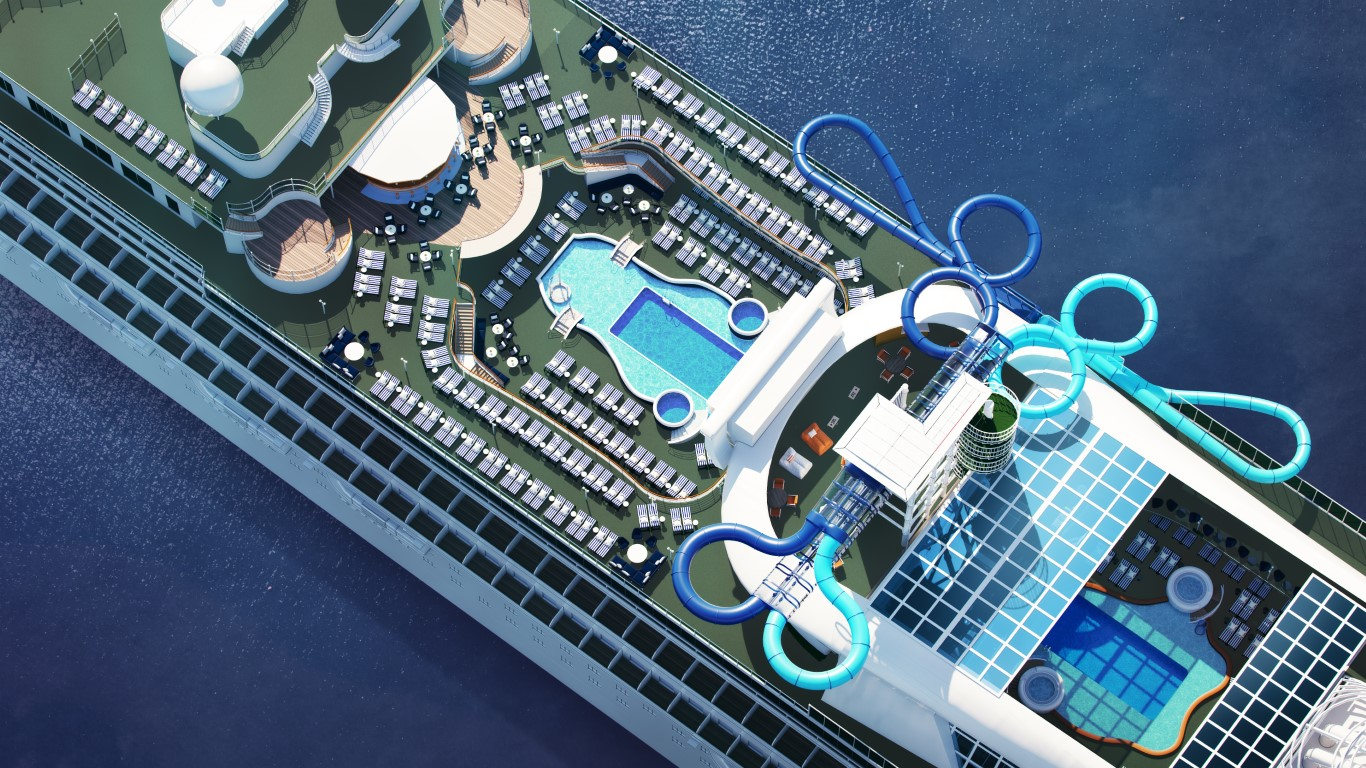 P&O Cruises Counts Down to Pacific Adventure's Arrival with the  'Twin Racer' Waterslide and New Family Entertainment Area