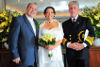 "Cunard's First Wedding Couple Say ""I Do"" Mid-Atlantic"