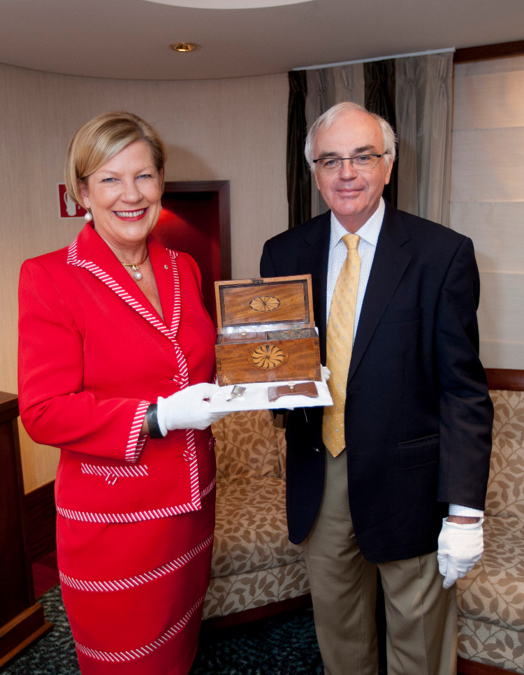 Historic Captain James Cook possessions sail on Queen Mary 2's  New Zealand Circumnavigation