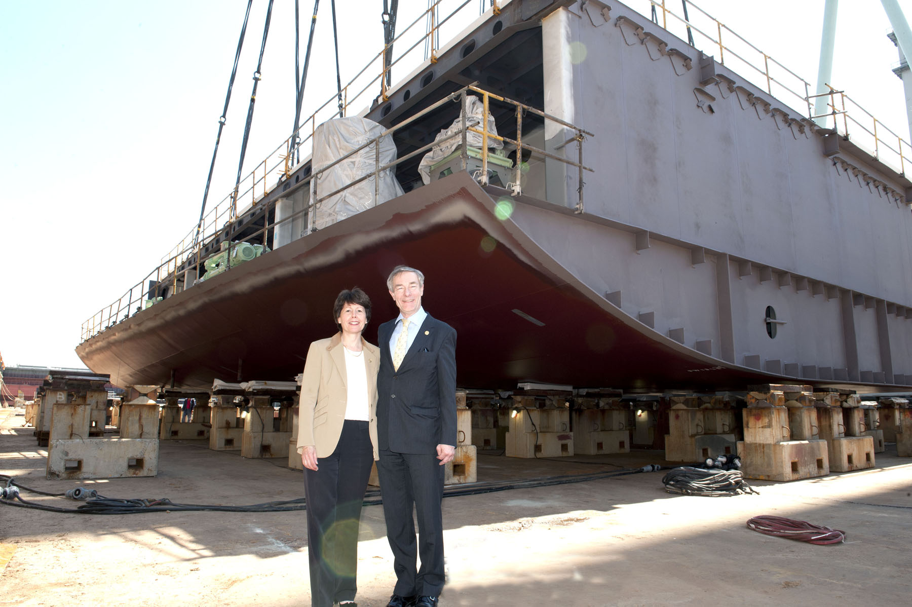 Keel Laying Images of P&O Cruises World Cruising's new cruise ship