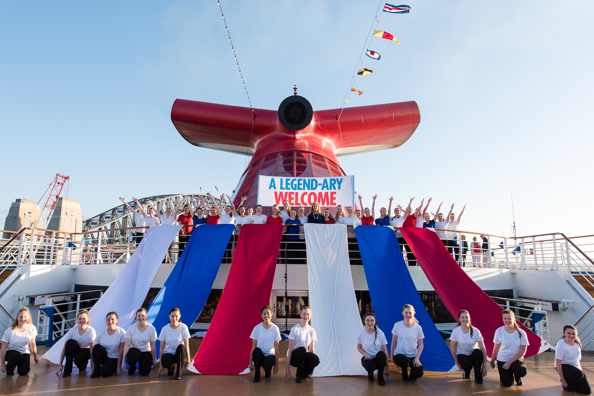 Carnival Legend Kicks Off the Australian Cruise Season with the World's Biggest Chorus at Sea